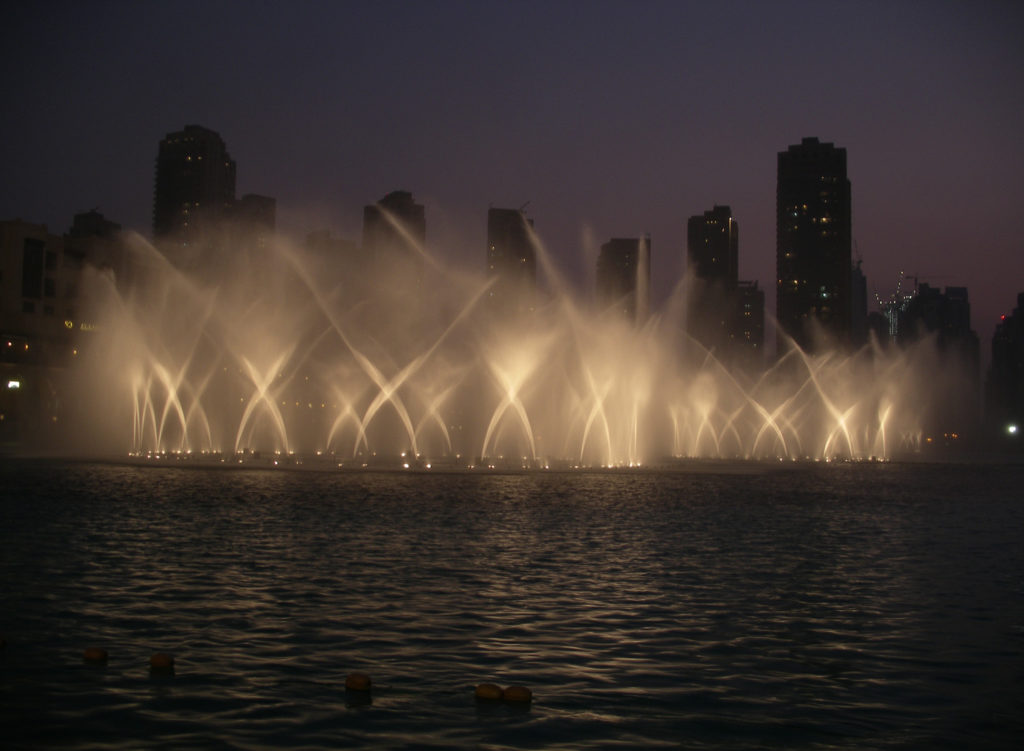 Dubai Fontänen