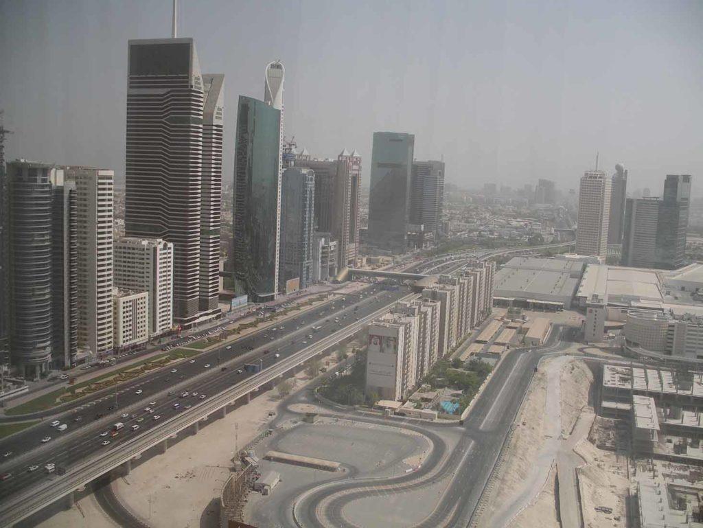Blick vom Burj Khalifa Richtung WTC