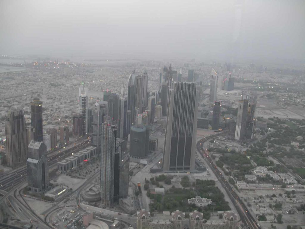 Blick vom Burj Khalifa Richtung