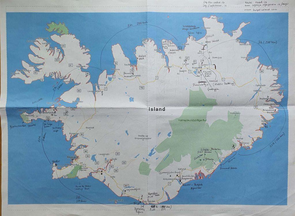 Karte zur Planung